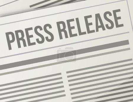 press release closeup illustration design graphic