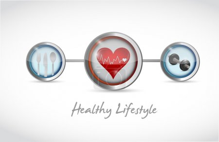 healthy lifestyle concept illustration design
