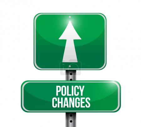 policy changes road sign illustration