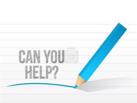 Foto de Puede ayudar al diseño de ilustración de mensajes sobre un fondo blanco - Imagen libre de derechos