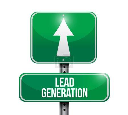 lead generation road sign illustration design