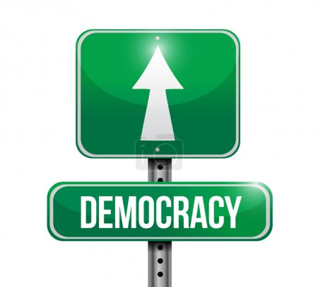 democracy road sign illustration design