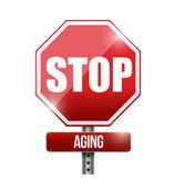 Zastavit stárnutí silnice znamení ilustrace design