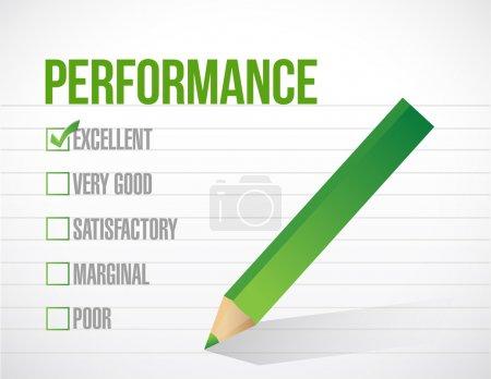 Photo pour Excellente performance examen illustration conception graphique sur fond blanc - image libre de droit