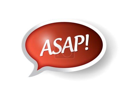 asap message bubble illustration