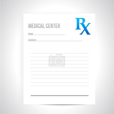 medical prescription illustration design
