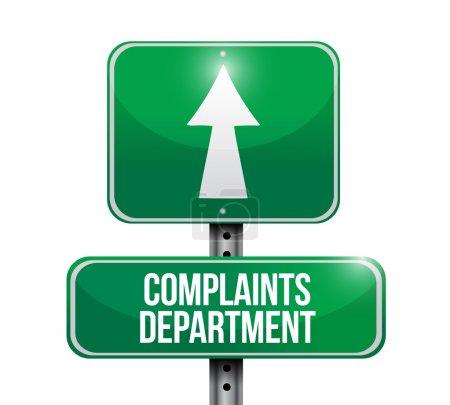 Photo pour Plaintes département signalisation routière illustration conception sur un fond blanc - image libre de droit