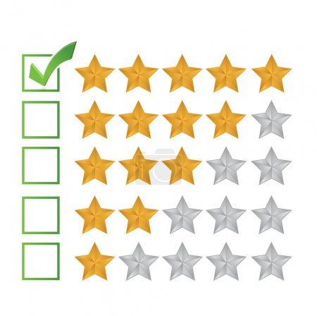 excellent review rating illustration design