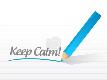 Photo pour Gardez votre calme écrasées conception illustration message blanc - image libre de droit