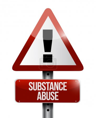 substance abuse warning road sign illustration
