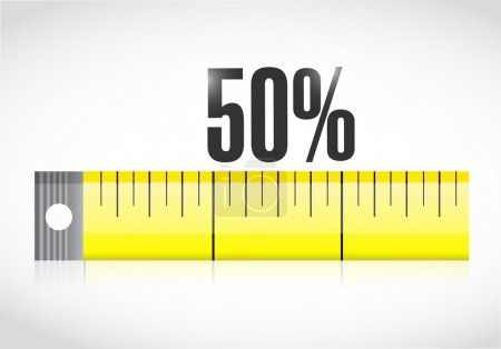 measure tape with a 50 percentage text.