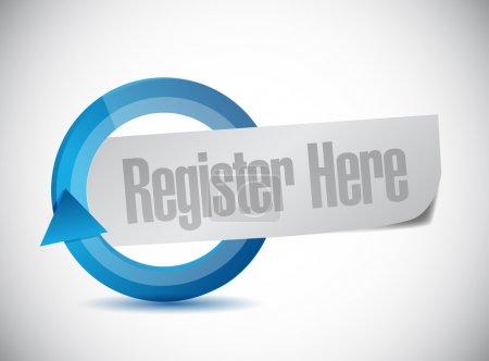register here message illustration design