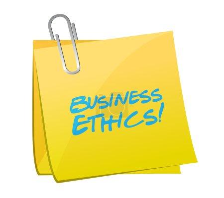 Business ethics post illustration design