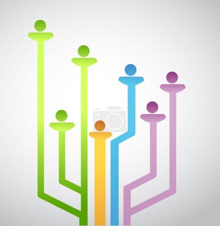 Foto de Gente conexión de red avatar. diseño de ilustración sobre un fondo blanco - Imagen libre de derechos