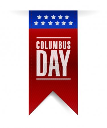 columbus day banner sign illustration design