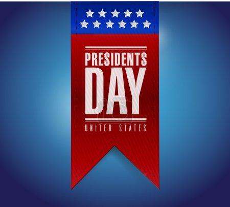 presidents day banner illustration design