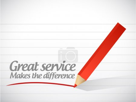 great service makes the difference message