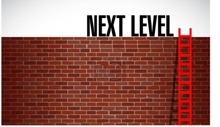 Photo for Next level concept illustration design over a white background - Royalty Free Image