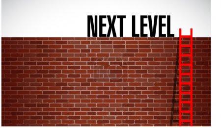 next level concept illustration design