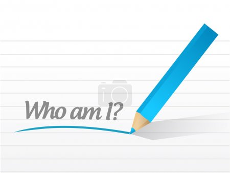Photo for Who am I message illustration design over a white background - Royalty Free Image