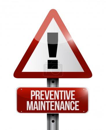 preventive maintenance sign illustration design
