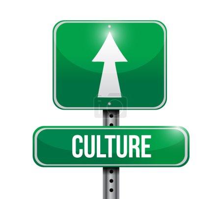 culture signpost illustration design