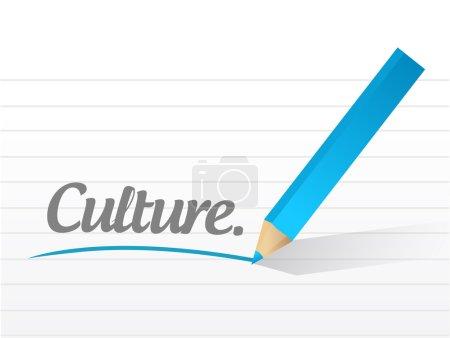 culture written message illustration design
