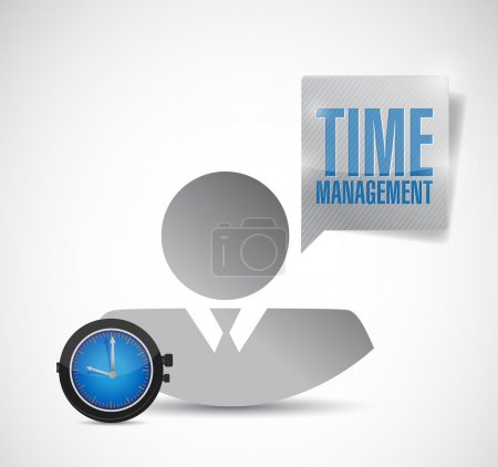 time management avatar employee. illustration