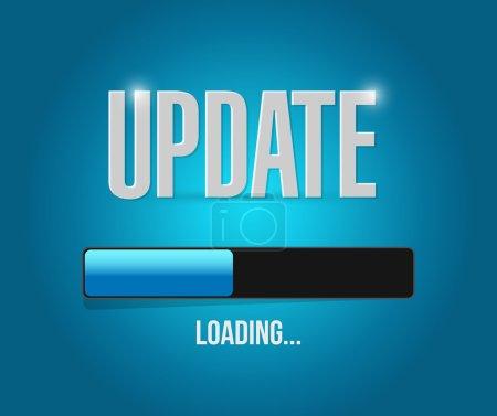 Photo pour Mises à jour de chargement de conception illustration sur un fond bleu - image libre de droit