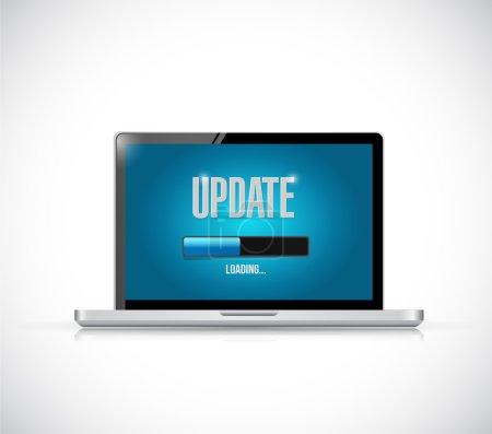 Photo pour Mise à jour de la conception d'illustration de votre ordinateur sur un fond blanc - image libre de droit