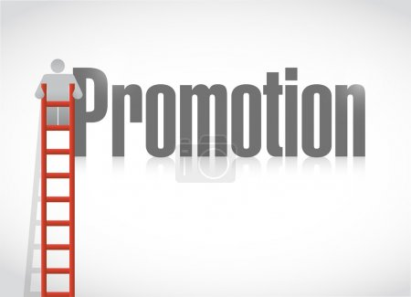 Climbing the corporate ladder. promotion