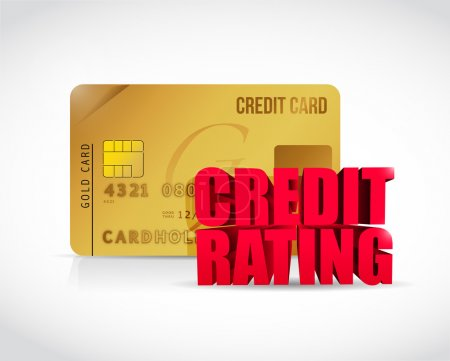 Credit rating and credit card illustration