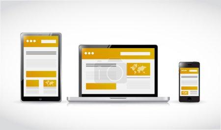 websites web responsive concept illustration