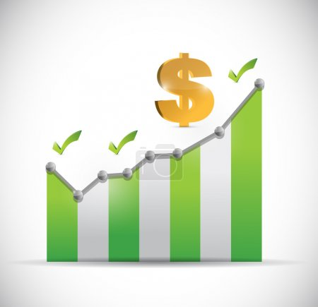 dollar business graph illustration design