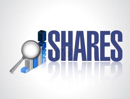 shares business graph illustration design