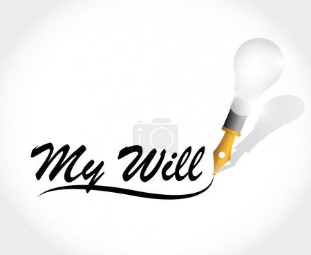Photo pour Mon sera message conception illustration sur fond blanc - image libre de droit