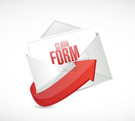 Claim form envelope illustration design