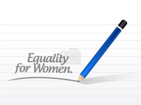 Photo pour Égalité pour les femmes illustration de message design sur un fond blanc - image libre de droit
