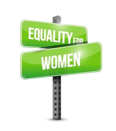 Photo pour Égalité pour les femmes signe illustration design sur un fond blanc - image libre de droit