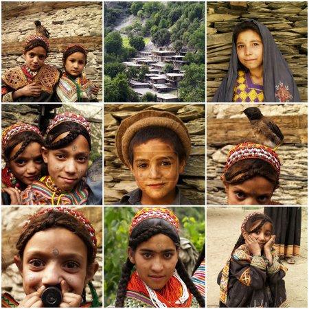 Portraits of Kalash kids