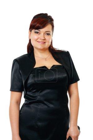 Sized lady in black dress