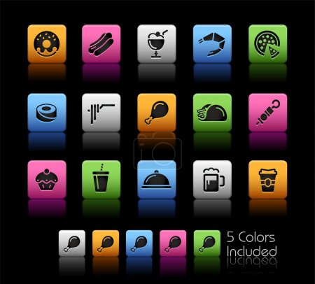 Food Icons - Set 2 of 2 // Color Box