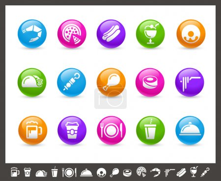 Food Icons - Set 2 of 2 // Rainbow