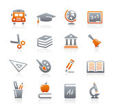 Education Icons - Graphite Series