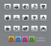 Élelmiszer-ikonok - szett 1-2--Satinbox sorozat