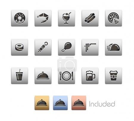 Food Icons - Set 2 of 2 -- Metalbox Series