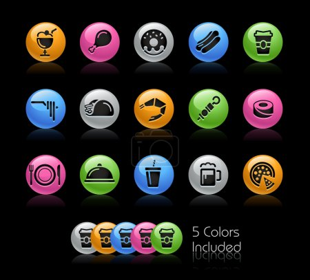 Food Icon set 2 - Gelcolor Series