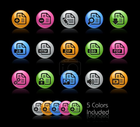 The Vector file includes 5 color versions for each...