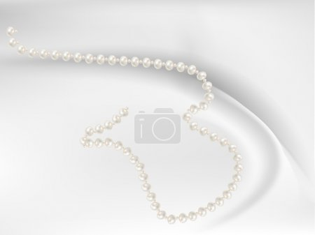 Beads with pink pearls romantic
