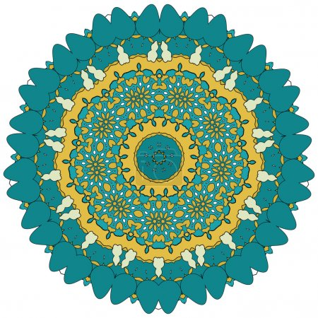 Lace floral colorful ethnic ornament kaleidoscope